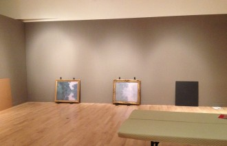 The Mead's Monet awaits installation at the Phillbrook alongside the MFA Boston Monet.