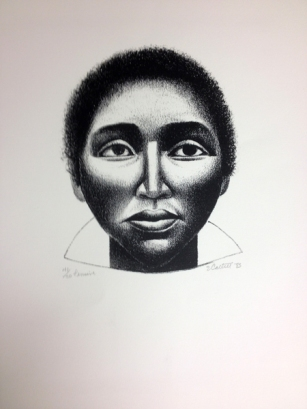 Elizabeth Catlett (American and Mexican, 1915–2012). Pensive, 1985. Lithograph. Purchase with the Samuel B. Cummings (Class of 1926) Art Fund, 2001.573.