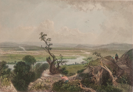 Robert Brandard; Bartlett, William Henry (after). British (1805–1862); British (1809–1854). Valley of the Connecticut from Mt. Holyoke, 1838. Engraving. Gift of Francis T. P. Plimpton, Class of 1922, 1943.7.