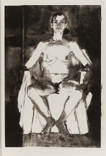 Peri Schwartz. American (1951- ). Self-Portrait at Night IV, 1985. Print, monotype. 30 15/16 in x 21 in.  Purchase with Wise Fund for Fine Arts, 2001.575.