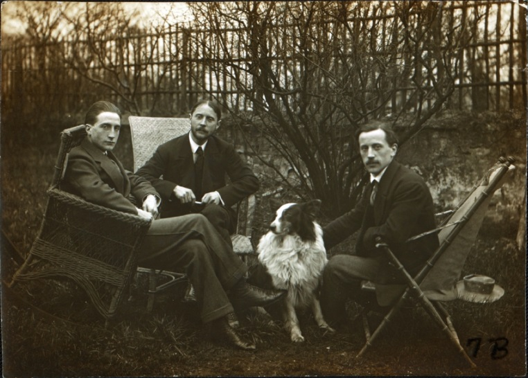 Figure 2. (from left to right) Marcel Duchamp, Raymond Duchamp-Villon, Jacques Villon