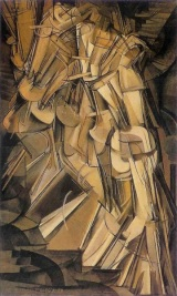 "Marcel Duchamp (French, 1887-1968). ""Nude Descending a Staircase (No. 2),"" 1912. Oil on canvas. Philadelphia Museum of Art, 1950-134-59."