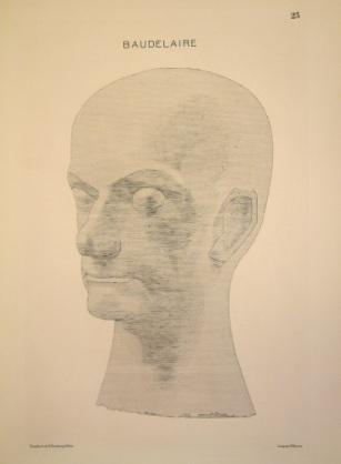 """Jacques Villon (French, 1875-1963). """"Baudelaire without a Pedastal (Baudelaire sans le socle),"""" 1921. Etching. Museum purchase, 1972.100."""