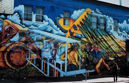 Lettuce Pickers mural