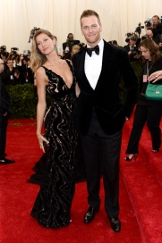 Brady and his wife, supermodel Gisele Bündchen, at the 2014 Met Gala